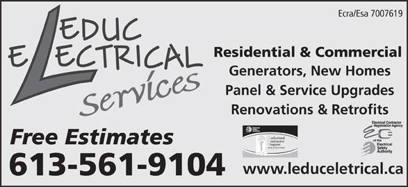 leduc electrical services