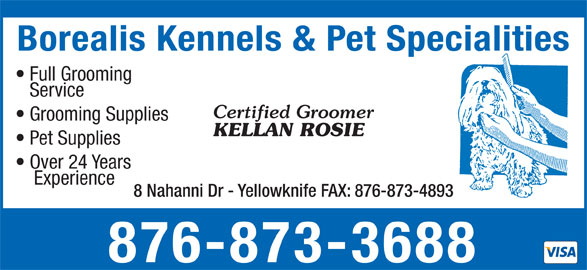 Borealis Kennels & Pet Specialties (867-873-3688) - Annonce illustrée======= -