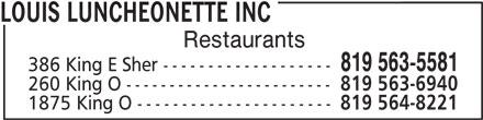 Ads Louis Luncheonette Inc