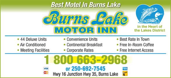 Burns Lake Motor Inn Burns Lake Bc 149 16 Hwy W