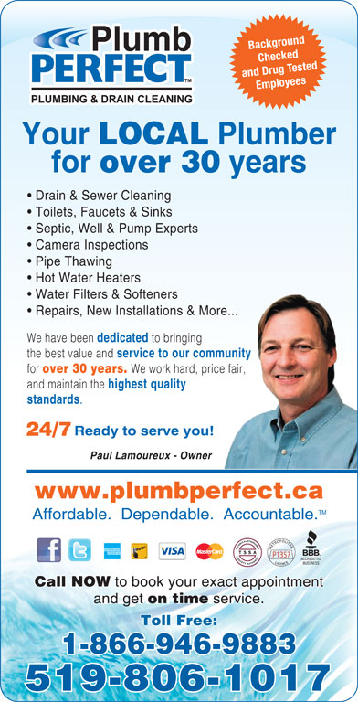 Plumb Perfect 14882 Dixie Rd Caledon On
