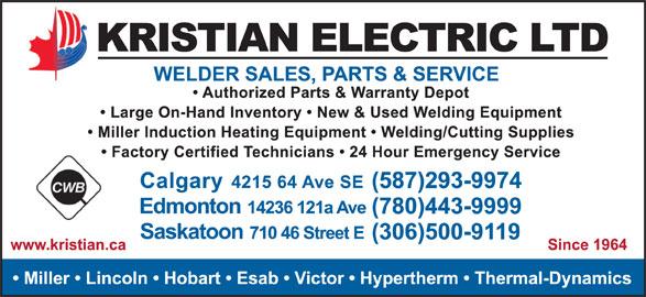 Kristian Electric Ltd (403-292-9111) - Display Ad -