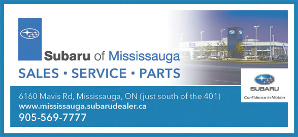 Subaru of Mississauga (905-569-7777) - Display Ad -