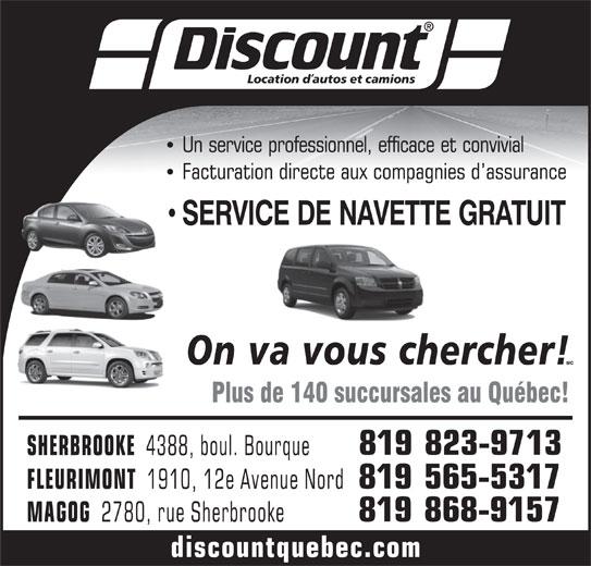 Discount Location d'Autos et Camions (819-823-9713) - Annonce illustrée======= -
