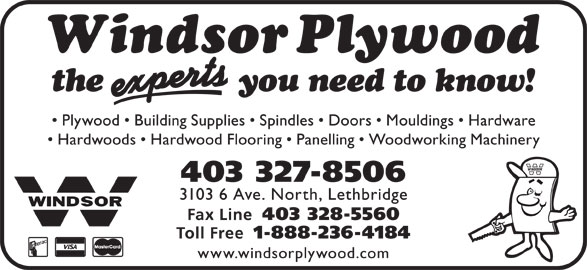 Windsor Plywood (403-327-8506) - Display Ad -