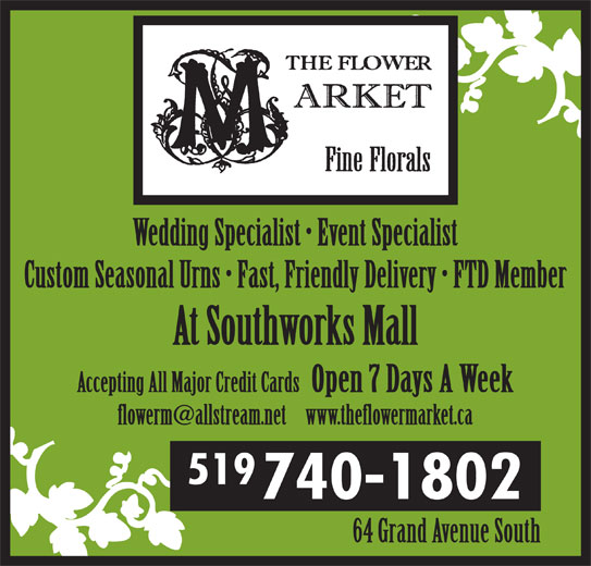 The Flower Market 84 Water St S Cambridge On