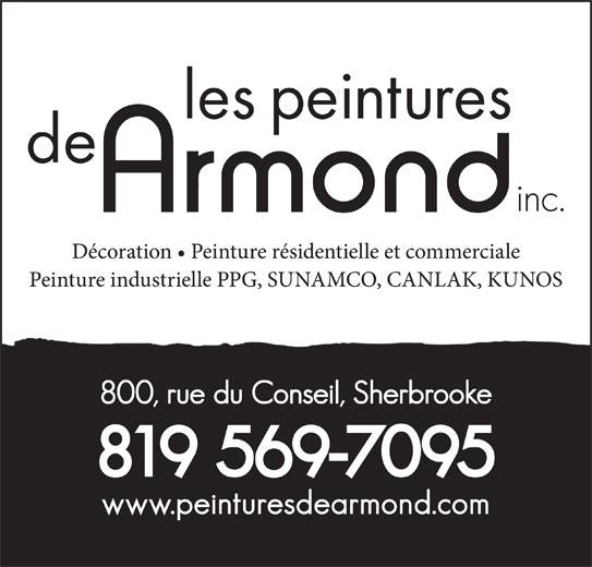 Peintures De Armond Inc (Les) (819-569-7095) - Annonce illustrée======= -