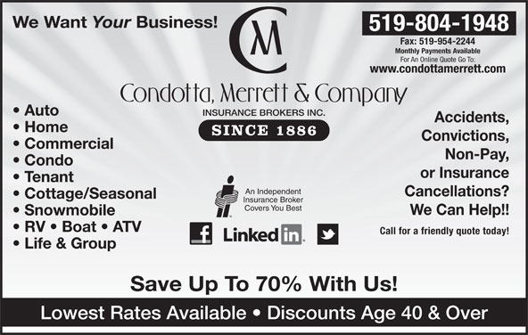 Condotta Merrett & Company Insurance Brokers Inc - 1-300 ...