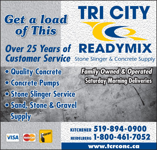 tri city ready mix limited 36 manitou dr kitchener on