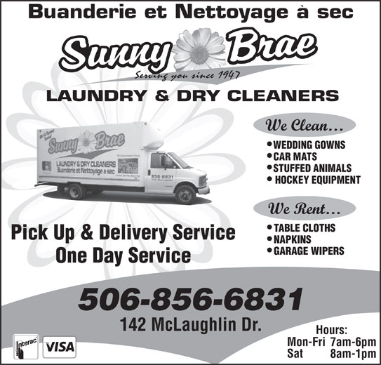 Sunny Brae Laundry Amp Dry Cleaning Moncton Nb 142