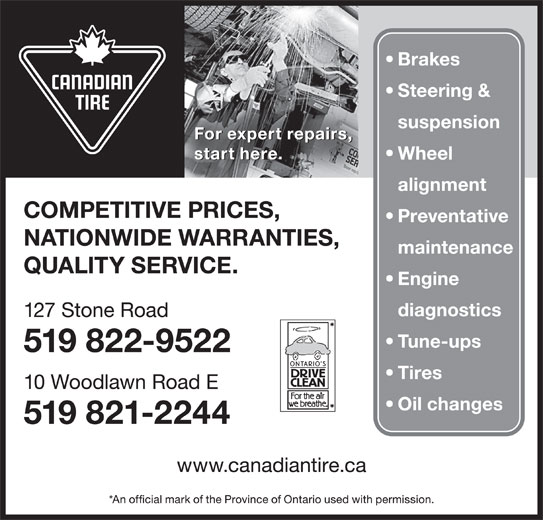 Eyeglass Repair Kit Canadian Tire : Canadian Tire - 127 Stone Rd W, Guelph, ON
