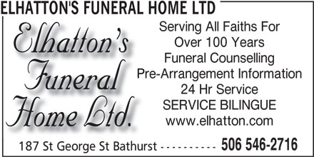 Ads Elhatton's Funeral Home Ltd
