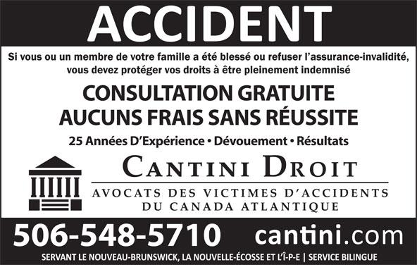 Cantini Droit (506-548-5710) - Annonce illustrée======= -