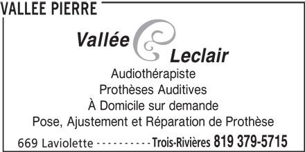 pierre vallee audioprothesiste
