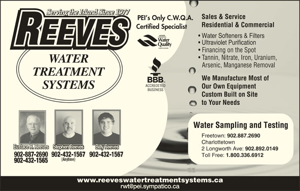 Reeves Water Treatment Systems 2 Longworth Ave