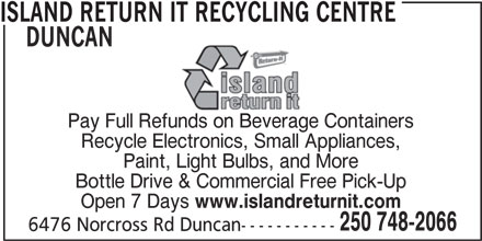 Ads Island Return It Recycling Centre Duncan