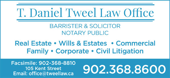 Tweel T Daniel (902-368-8600) - Display Ad -