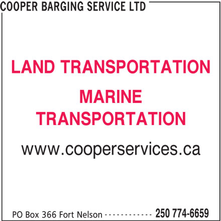 Ads Cooper Barging Service Ltd