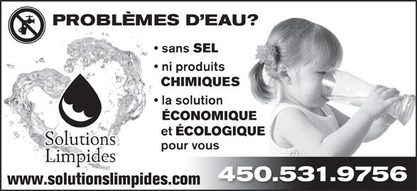 Solutions limpides horaire d 39 ouverture 37 rue leggett - Adoucisseur sans sel ...