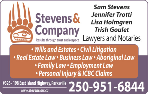 Stevens & Co Lawyer (250-248-8220) - Display Ad -