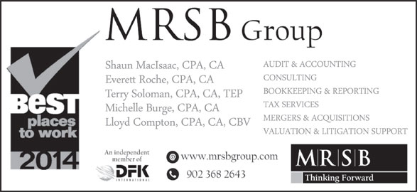 MRSB Chartered Accountants (902-368-2643) - Display Ad -