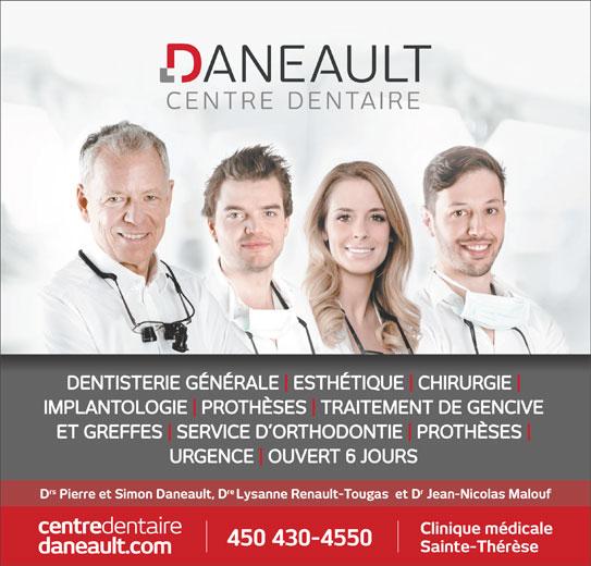 Centre Dentaire Daneault (450-430-4550) - Annonce illustrée======= -