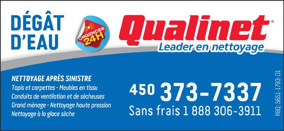 Qualinet (450-373-7337) - Annonce illustrée======= -