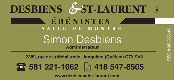 Ads Desbiens & St-Laurent Inc