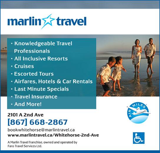 Marlin Travel (867-668-2867) - Display Ad -