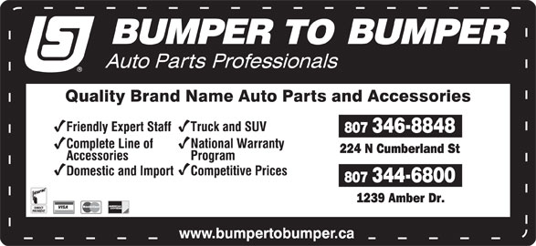Auto Parts Central (807-344-6800) - Display Ad -
