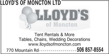 Lloyd's Of Moncton Ltd (506-857-8554) - Display Ad -
