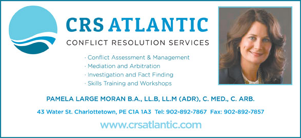 Conflict Resolution Services (CRS) Atlantic (902-892-7867) - Annonce illustrée======= -