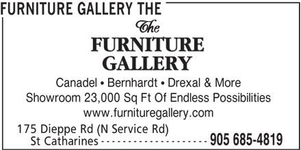 The Furniture Gallery (905-685-4819) - Annonce illustrée======= -