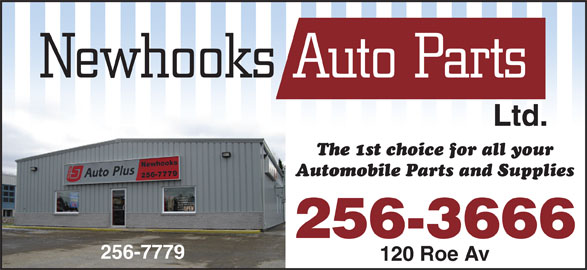 Newhooks Auto Parts (1977) Ltd (709-256-7779) - Display Ad - Ltd. 256-3666 256-7779 120 Roe Av