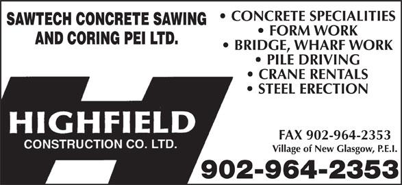 Highfield Crane (902-964-2353) - Display Ad - FAX 902-964-2353 902-964-2353