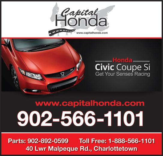 Capital Honda (902-566-1101) - Display Ad -