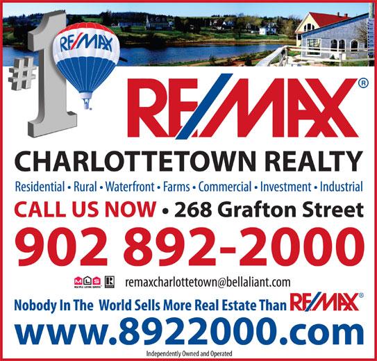 RE/MAX Charlottetown Realty (902-892-2000) - Display Ad -
