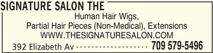 The Signature Salon (709-579-5496) - Annonce illustrée======= -