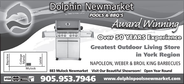 Dolphin Pools And Bbq 1 883 Mulock Dr Newmarket On