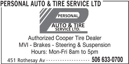 Ads Personal Auto & Tire Service Ltd