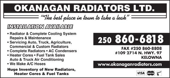 Ads Okanagan Radiators Ltd
