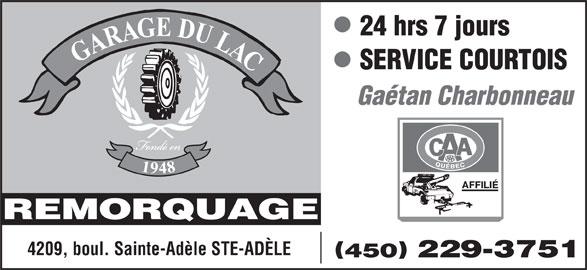 garage du lac 4209 boul ste ad le sainte ad le qc. Black Bedroom Furniture Sets. Home Design Ideas