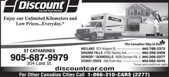 Discount Car Truck Rentals St Catharines On