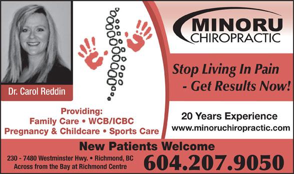 Ads Minoru Chiropractic