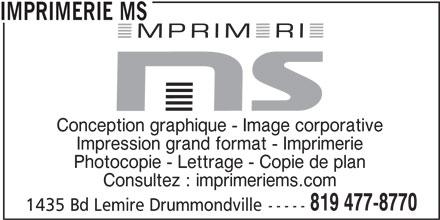 Imprimerie ms drummondville qc 1435 boul lemire for Papeterie drummondville