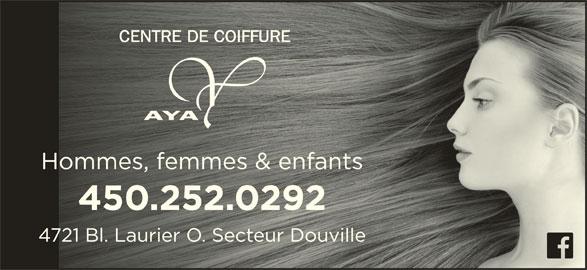Aya Coiffure (450-252-0292) - Annonce illustrée======= -
