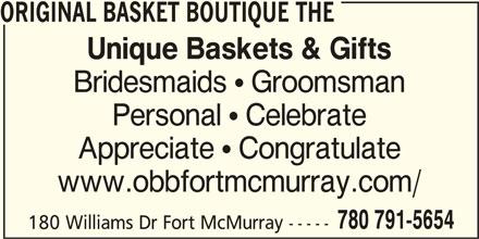 The Original Basket Boutique (780-791-5654) - Annonce illustrée======= -