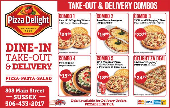 Pizza Delight (506-433-2017) - Annonce illustrée======= -