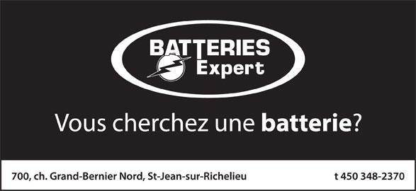 Batteries Expert (450-348-2370) - Annonce illustrée======= -