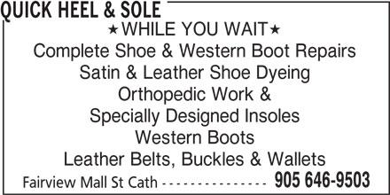 Dupont Shoe Repair Hours